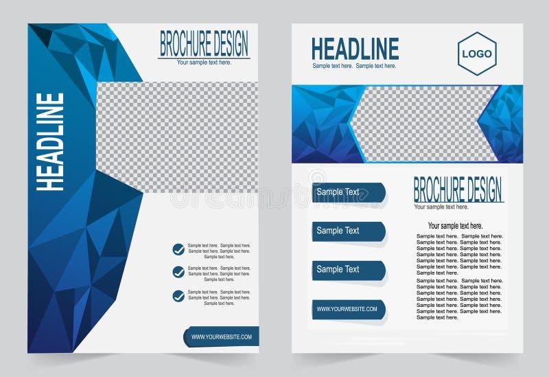 Download Шаблон брошюры, дизайн рогульки, голубой Bac вектора конспекта цвета Иллюстрация вектора - иллюстрации насчитывающей конструкция, план: 81810108