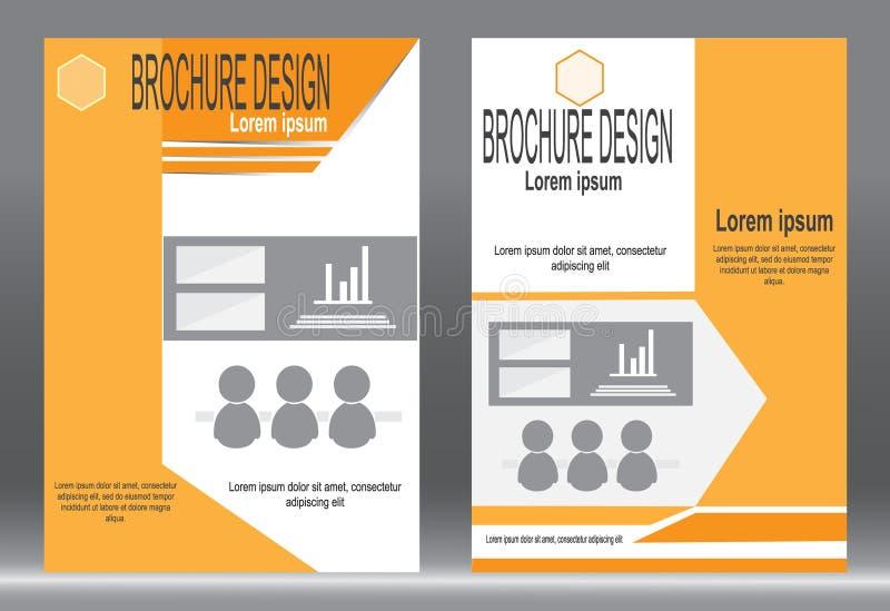 Download Шаблон брошюры, дизайн рогульки, оранжевый ба вектора конспекта цвета Иллюстрация вектора - иллюстрации насчитывающей померанцово, знамена: 81809875