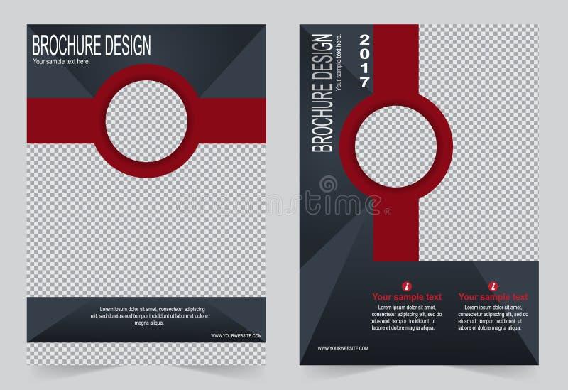Download Шаблон брошюры, дизайн рогульки шаблон серый и красный Иллюстрация вектора - иллюстрации насчитывающей рекламирует, дело: 81810740