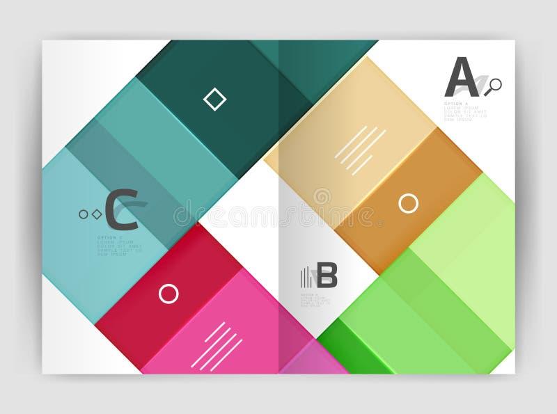 Шаблон брошюры квадратов и прямоугольников a4 иллюстрация вектора