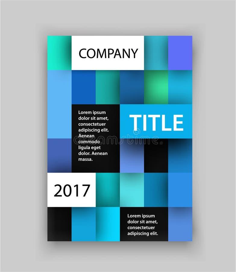 шаблон брошюры Концепция квадратного дизайна также вектор иллюстрации притяжки corel Крышка для крышки или кассеты годового отчет бесплатная иллюстрация