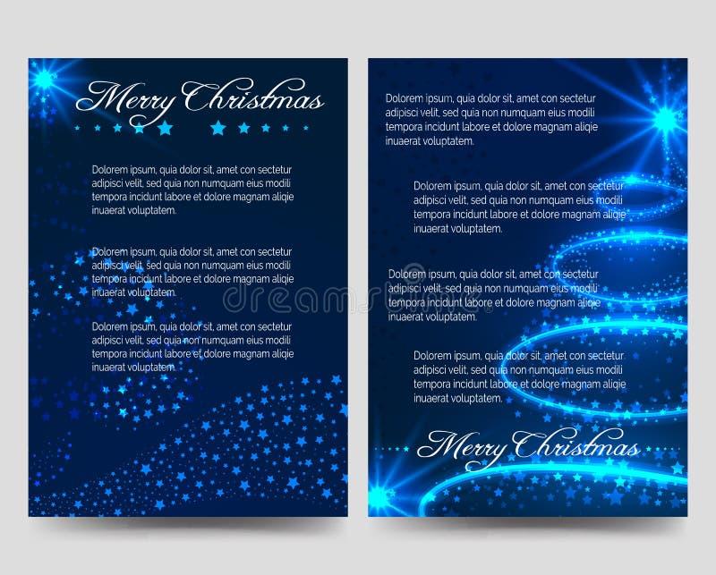 Шаблон брошюры рогулек рождества голубой бесплатная иллюстрация