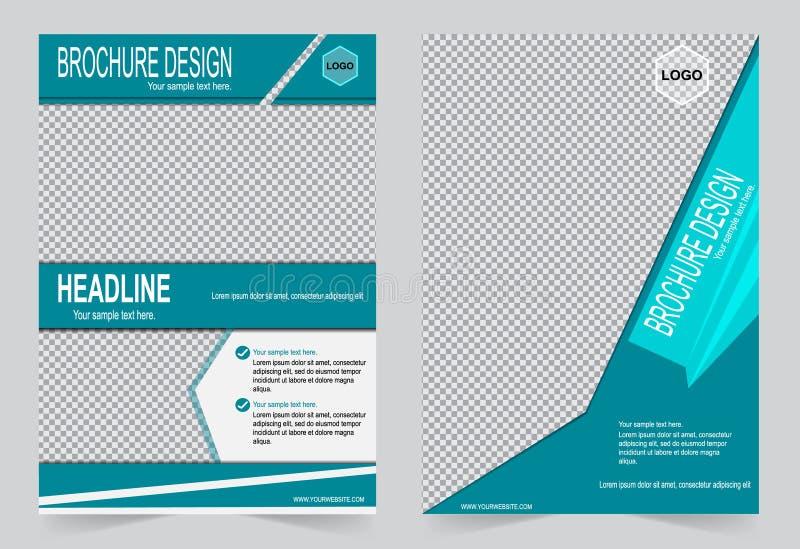 Download Шаблон брошюры, шаблон зеленого цвета дизайна рогульки Иллюстрация вектора - иллюстрации насчитывающей квадрат, информация: 81810501