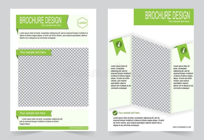 Download Шаблон брошюры, шаблон зеленого цвета дизайна рогульки Иллюстрация вектора - иллюстрации насчитывающей органическо, крышка: 81810591