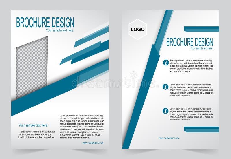 Download Шаблон брошюры, шаблон сини дизайна рогульки Иллюстрация вектора - иллюстрации насчитывающей знамена, коммерчески: 81810618
