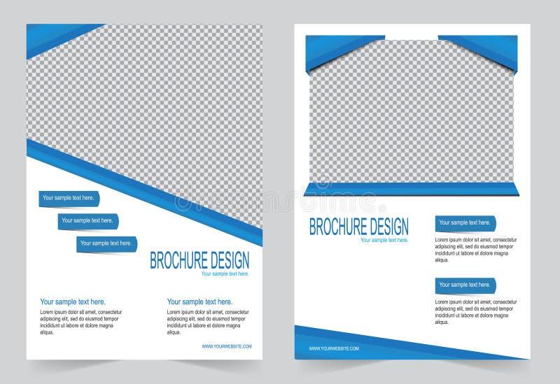Download Шаблон брошюры, шаблон цвета дизайна рогульки голубой Иллюстрация вектора - иллюстрации насчитывающей конспектов, информация: 81810581