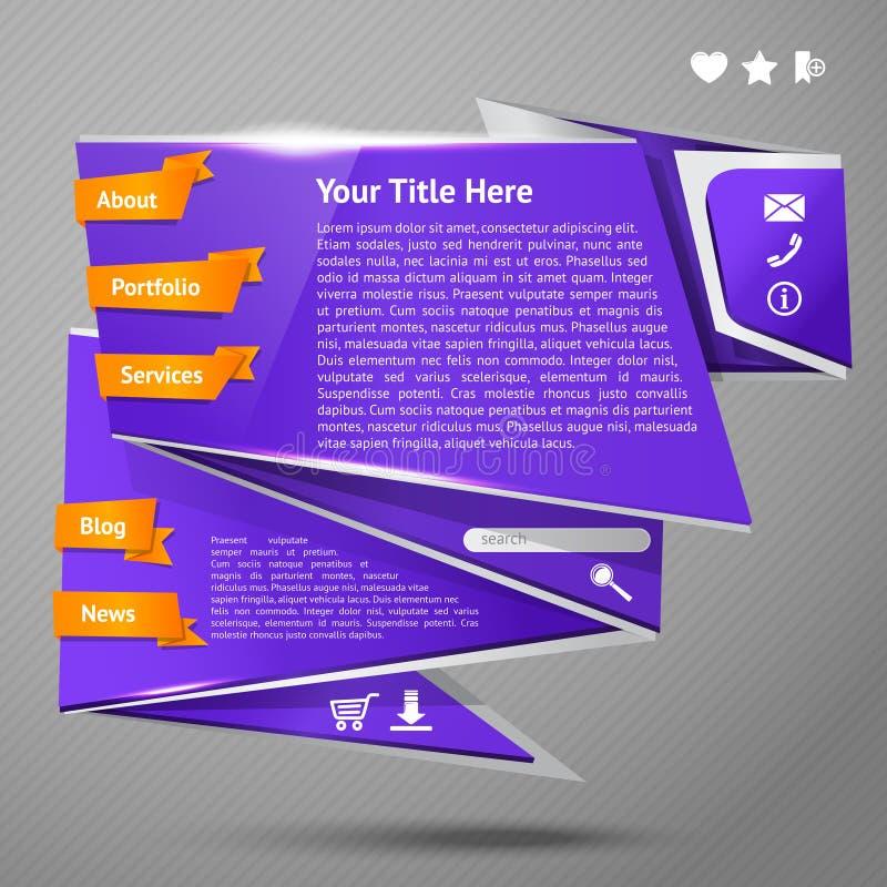 Шаблон вебсайта Origami бесплатная иллюстрация