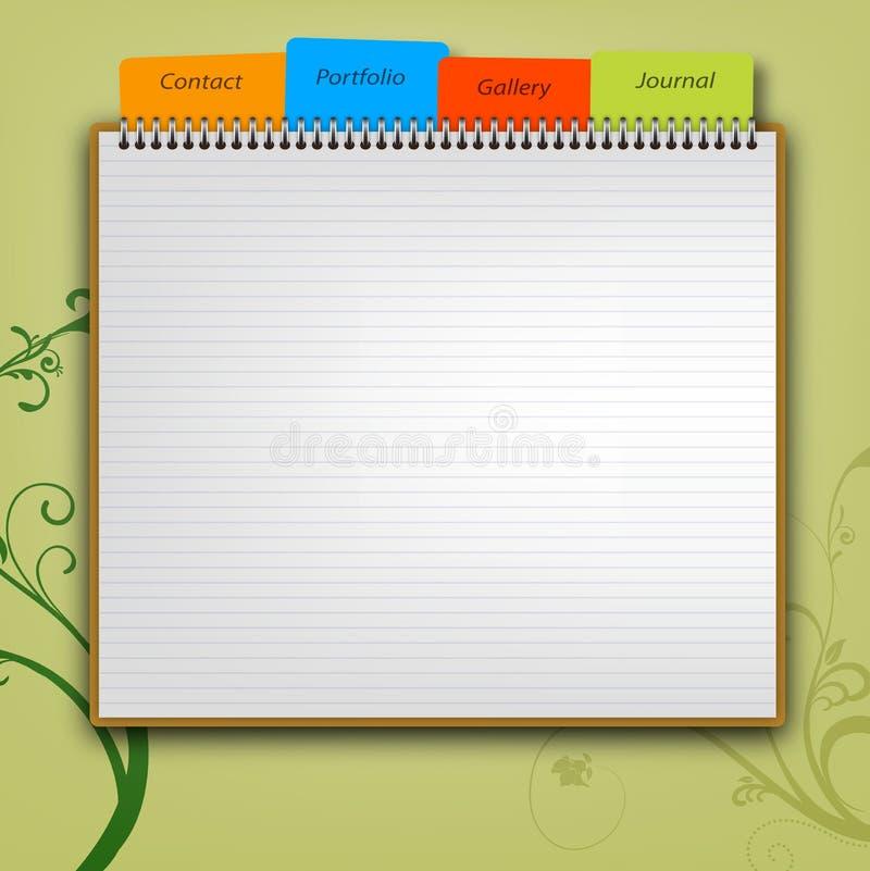 Шаблон веб-дизайна иллюстрация штока