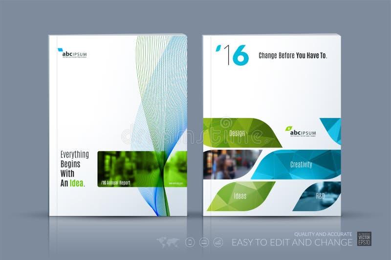 Шаблон вектора дела План брошюры, покрывает современный дизайн a стоковая фотография