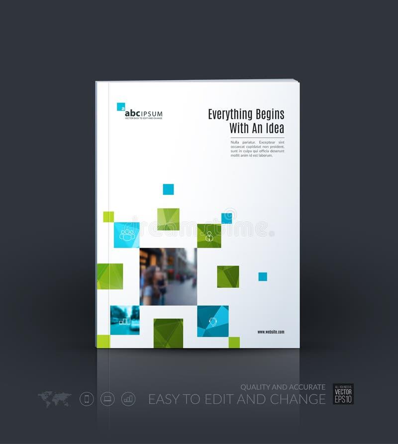 Шаблон вектора дела План брошюры, покрывает современный дизайн иллюстрация вектора