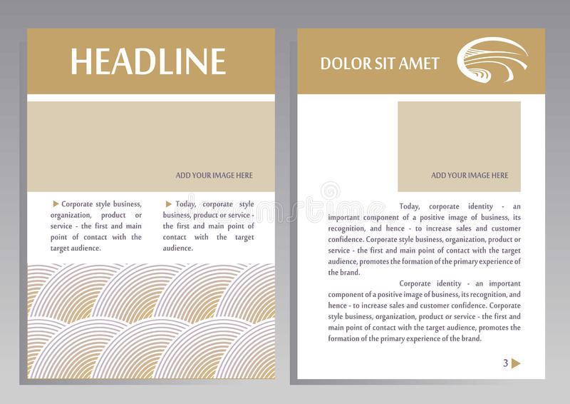 Шаблон вектора дизайна рогульки брошюры в размере A4 иллюстрация штока
