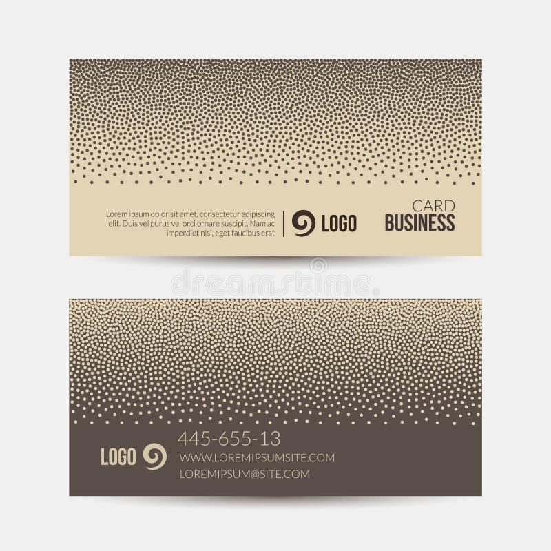 Шаблон визитной карточки, ретро поставленный точки план дизайна вектора картины предпосылки иллюстрация штока