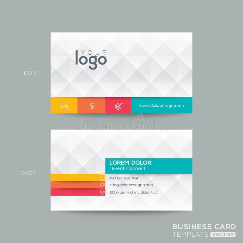 Шаблон визитной карточки с предпосылкой картины диаманта серой бесплатная иллюстрация