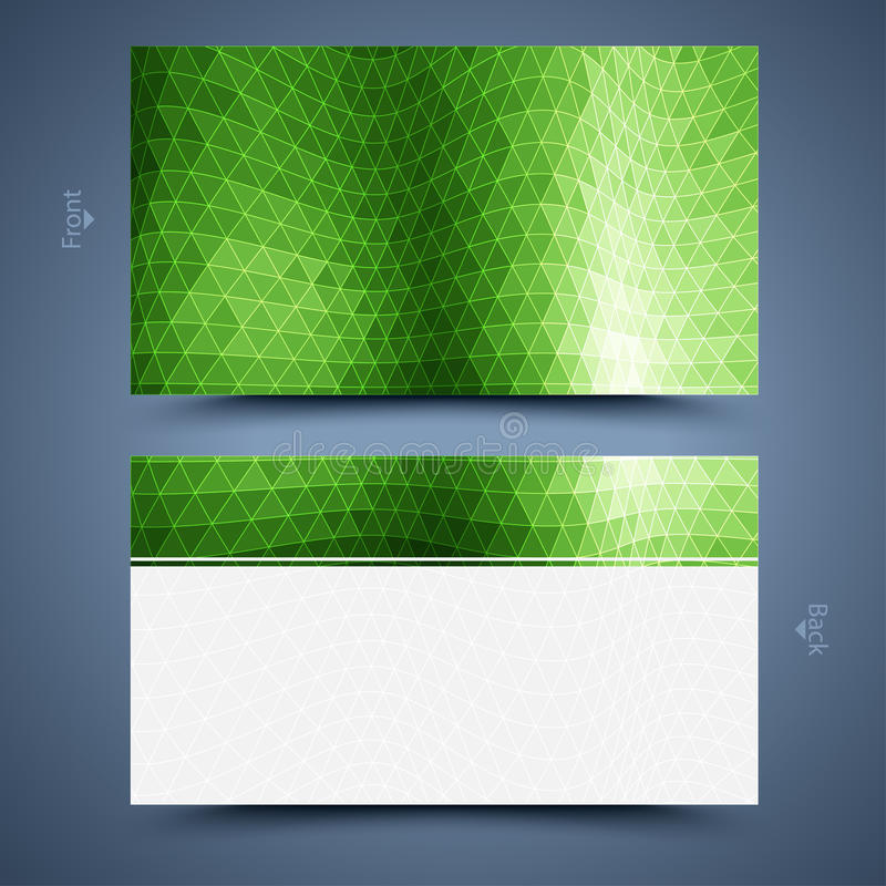 Шаблон визитной карточки иллюстрация штока