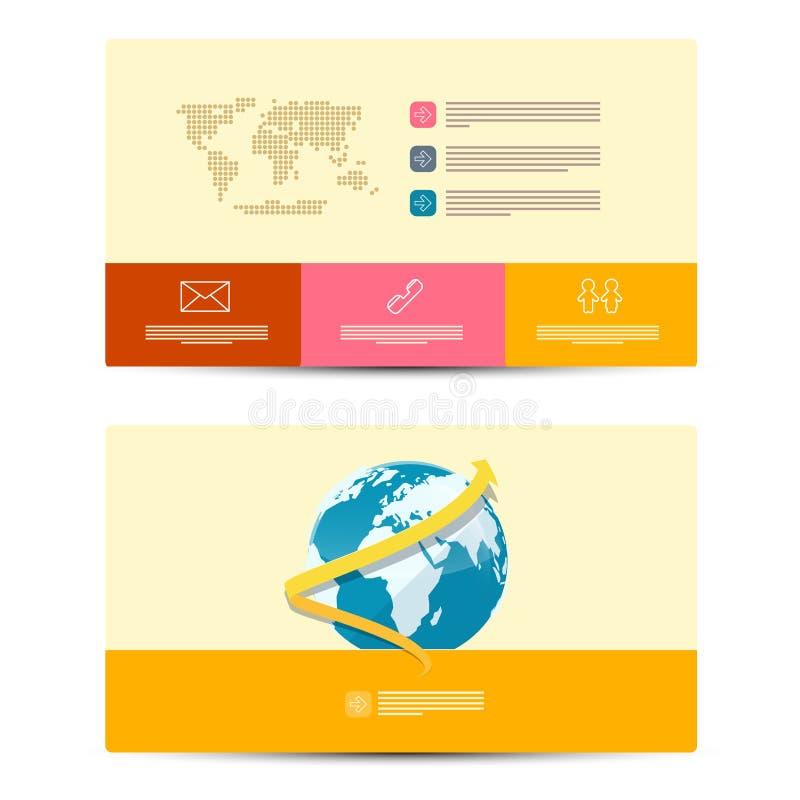 Шаблон визитных карточек вектора бумажный иллюстрация вектора