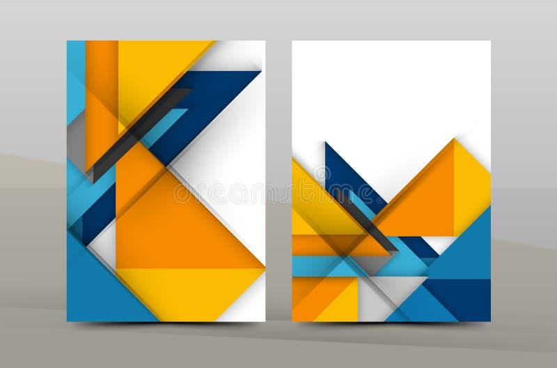 Шаблон годового отчета дизайна квадрата и треугольника бесплатная иллюстрация