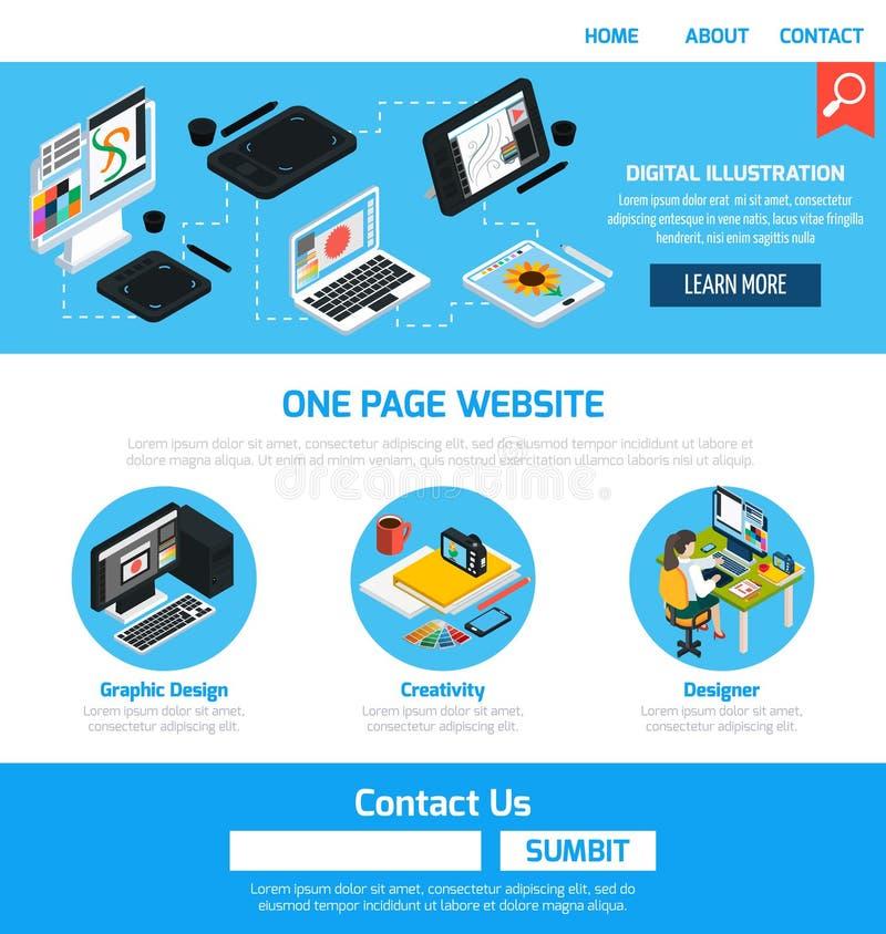 Шаблон графического дизайна для вебсайта иллюстрация вектора