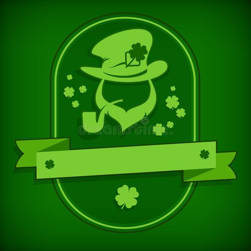 Шаблон лепрекона в зеленом цвете бесплатная иллюстрация
