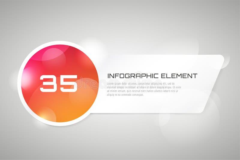 Шаблон знамени вектора infographic процессы иллюстрация штока