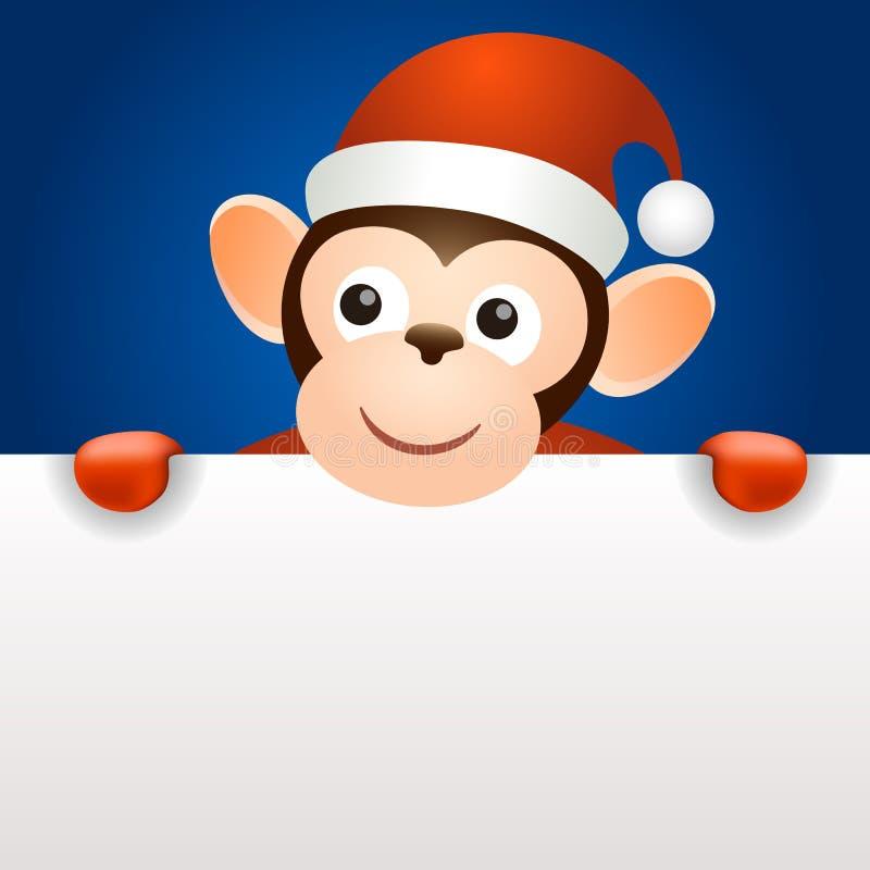 Шаблон 2016 знамени Нового Года рождества обезьяны бесплатная иллюстрация