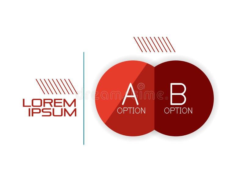 Шаблон знамени формы круга infographic бесплатная иллюстрация