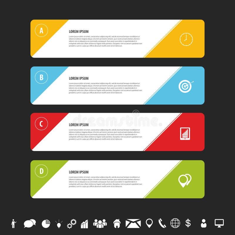 Шаблон знамен дизайна чистый Вектор Infographics бесплатная иллюстрация