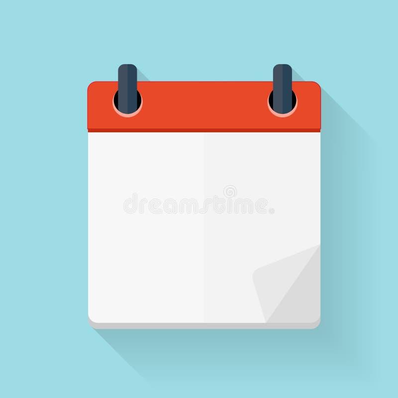 Шаблон значка календаря плоско ежедневный Эмблема иллюстрации вектора e бесплатная иллюстрация