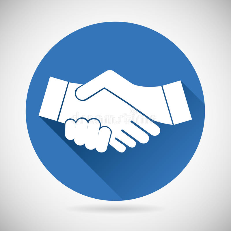 Шаблон значка рукопожатия символа партнерства иллюстрация вектора