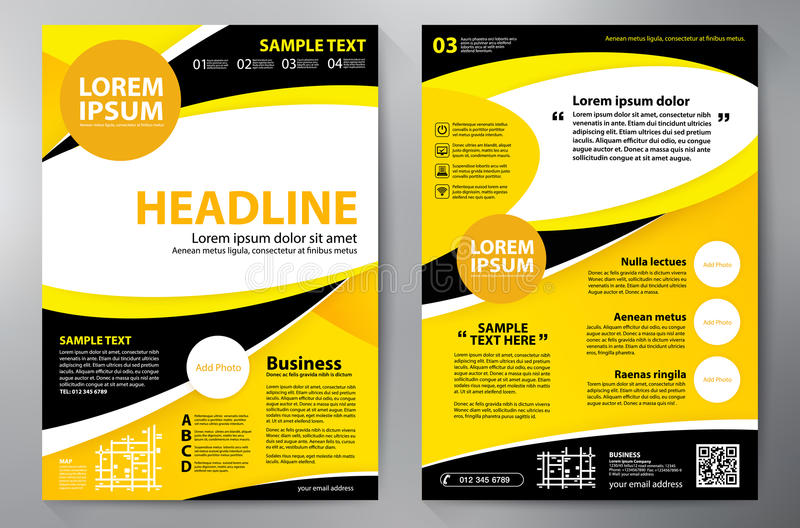 Шаблон дизайна a4 брошюры