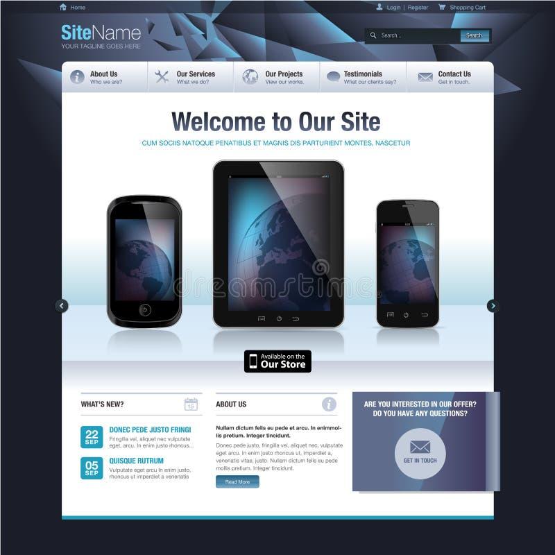 Шаблон дизайна вебсайта иллюстрация вектора