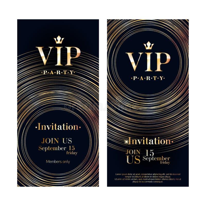 Шаблон дизайна карточки приглашения VIP наградной иллюстрация вектора