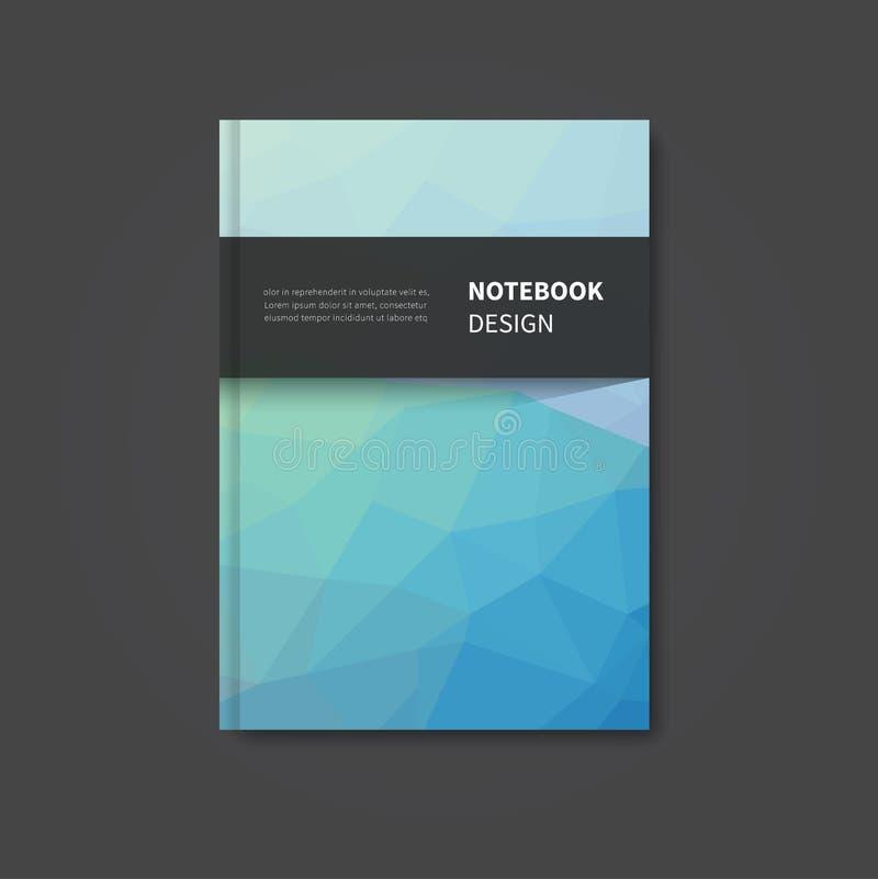 Шаблон дизайна книги крышки иллюстрация вектора