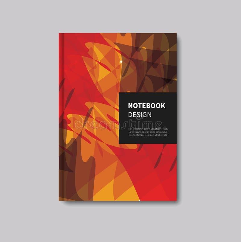 Шаблон дизайна конспекта брошюры иллюстрация штока