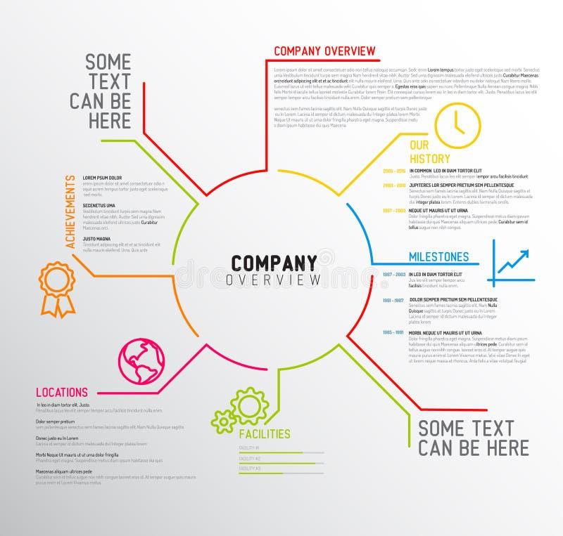 Шаблон дизайна обзора Вектора Компании infographic иллюстрация штока