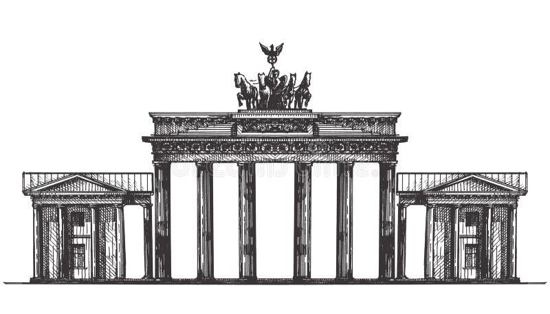 Шаблон дизайна логотипа вектора Германии памятник или иллюстрация штока