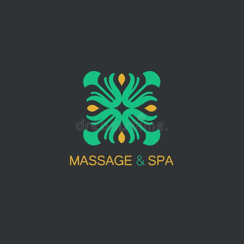 Шаблон дизайна логотипа вектора и абстрактная флористическая эмблема в линейном стиле - эмблема для моды, красоты и индустрии юве бесплатная иллюстрация