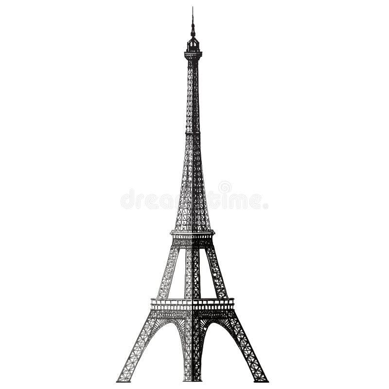 Шаблон дизайна логотипа вектора Эйфелевой башни Франция иллюстрация вектора