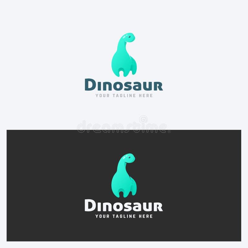 Шаблон дизайна логотипа динозавра Тема корпоративного бизнеса Концепция детских игрушек Простой и чистый стиль иллюстрация вектора