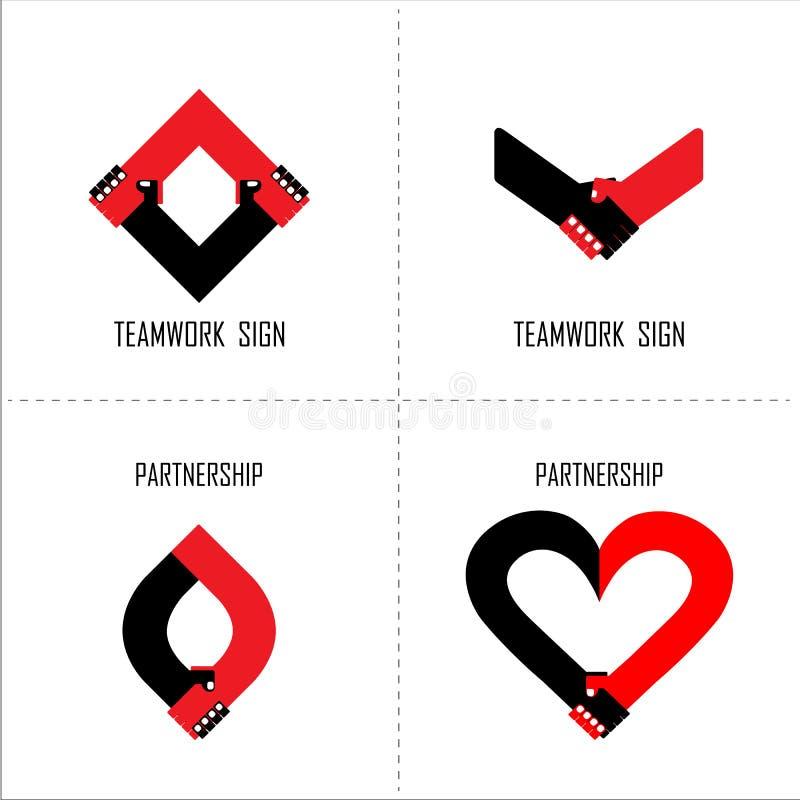 Шаблон дизайна логотипа рукопожатия абстрактный владение домашнего ключа принципиальной схемы дела золотистое достигая небо к Par иллюстрация вектора