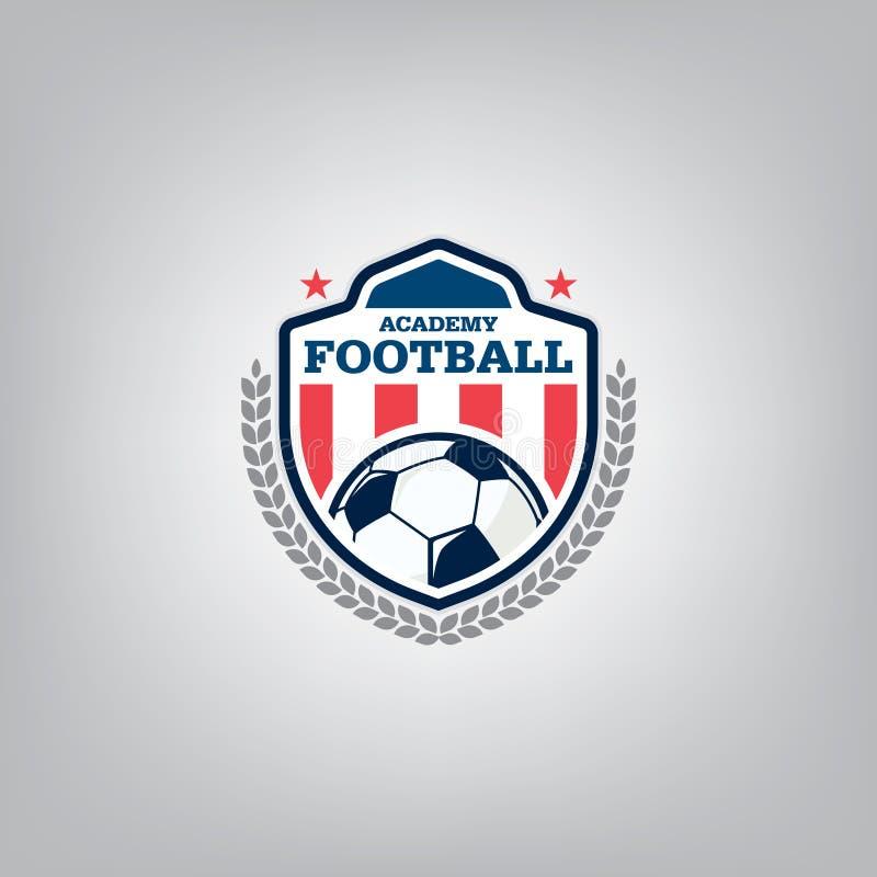Шаблон дизайна логотипа футбола, идентичность команды значка футбола, график футболки футбола футбола бесплатная иллюстрация