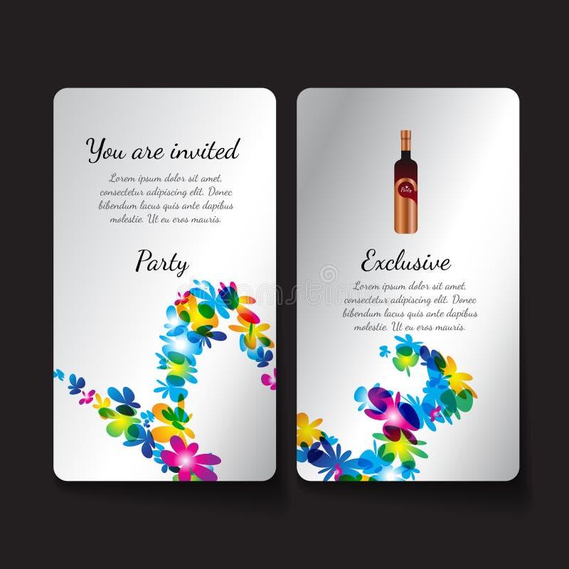 Шаблон дизайна приглашения сладостная концепция бесплатная иллюстрация
