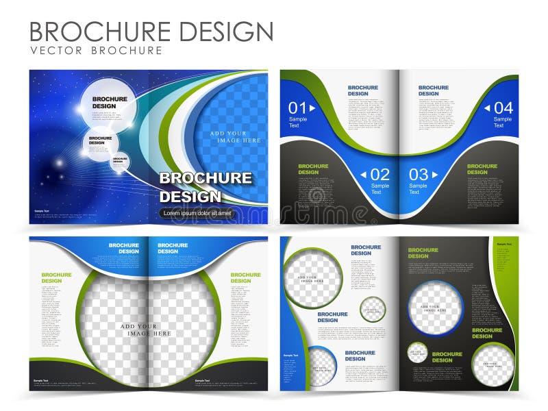 Шаблон дизайна плана брошюры вектора иллюстрация вектора