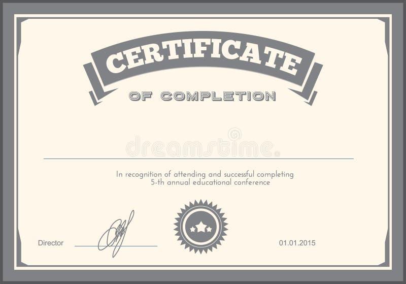 Шаблон дизайна сертификата стоковое изображение