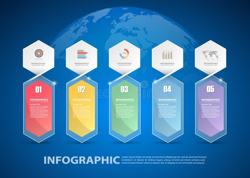 Шаблон дизайна infographic смогите быть использовано для плана потока операций, диаграммы иллюстрация штока