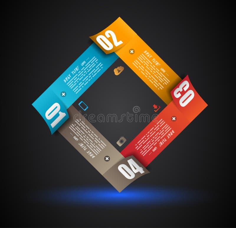 Шаблон дизайна Infographic с бумажными бирками бесплатная иллюстрация