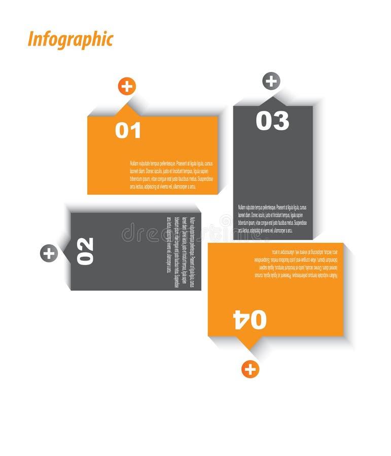 Шаблон дизайна Infographic с бумажными бирками. бесплатная иллюстрация