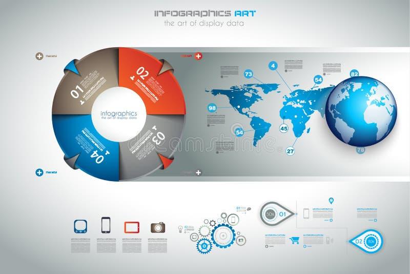 Шаблон дизайна Infographic с современным плоским стилем бесплатная иллюстрация