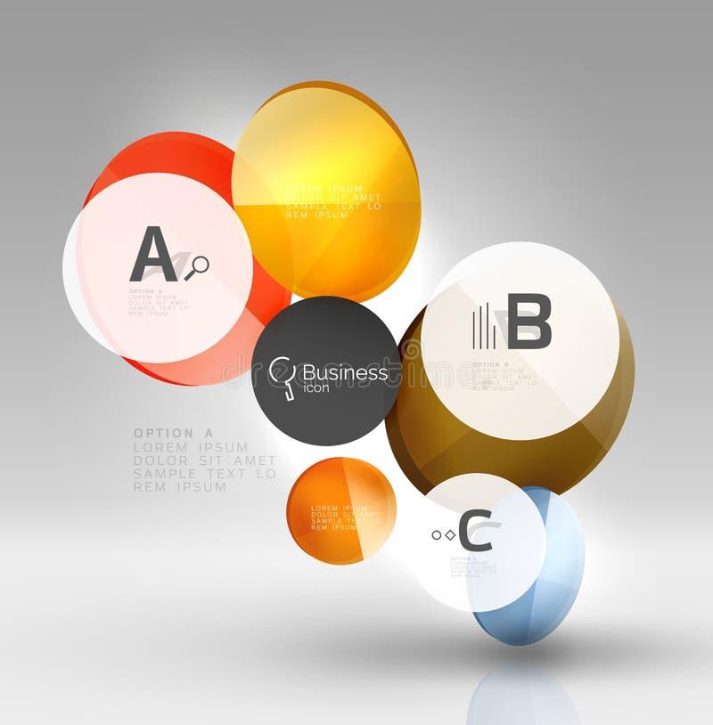 Шаблон дизайна Infographics дела круга современный бесплатная иллюстрация