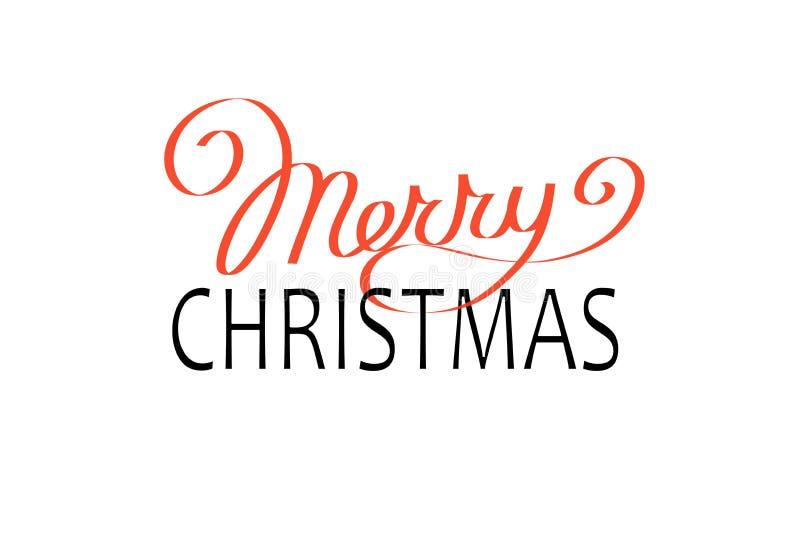 Шаблон карточки дизайна литерности с Рождеством Христовым текста вектора каллиграфический бесплатная иллюстрация