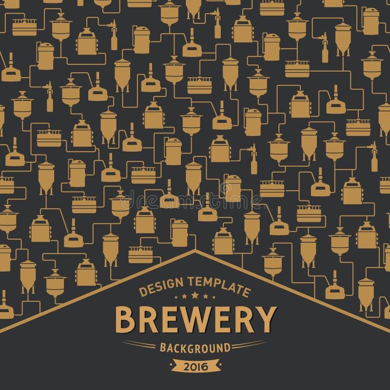 Шаблон карточки с элементом винзавода пива вектор бесплатная иллюстрация